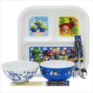 食器セット トイストーリー 子供用食器 6点セット ディズニー ヤクセル スプーン フォーク 箸 ランチプレート 茶碗 汁椀|velkommen