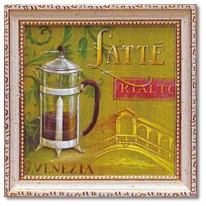 カフェ インテリア アートポスター ミニ ゲル アートフレーム ラテ・リアルト アンジェラ・スターリング velkommen