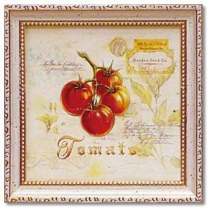 ミニ ゲル アートフレーム アートポスター カフェ インテリア トスカーナのトマト アンジェラ・スターリング velkommen