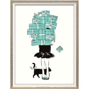 アートフレーム オマージュ キャンバスアート マルティナ・パブロバ ショッピング ガール1 (Sサイズ) ユーパワー BC-07048 33x43cm|velkommen