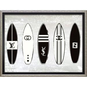 アートフレーム オマージュ キャンバスアート マルティナ・パブロバ オマージュ サーフィン (Sサイズ) ユーパワー BC-07055|velkommen