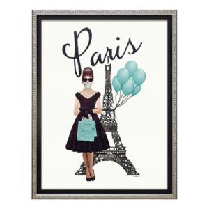 アートフレーム オマージュキャンバスアート アマンダグリーンウッド パリ スタイル Sサイズ ユーパワー BC-07094 ギフト 額付きポスター|velkommen