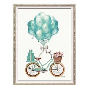 アートフレーム オマージュキャンバスアート アマンダグリーンウッド バルーン バイシクル Sサイズ ユーパワー BC-07096 ギフト 額付きポスター|velkommen