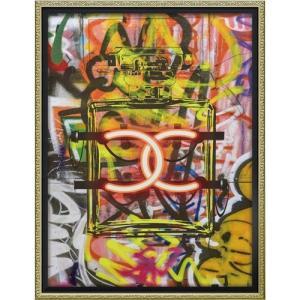 インテリアパネル ブランド キャンバスアート アマンダ グリーンウッド グラフィティ パフューム1(Mサイズ) ユーパワー 43.5x56.5cm|velkommen
