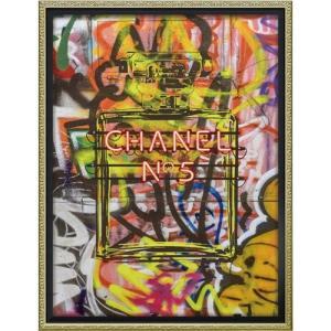 インテリアパネル ブランド キャンバスアート アマンダ グリーンウッド グラフィティ パフューム2(Mサイズ) ユーパワー 43.5x56.5cm|velkommen