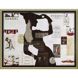 インテリアパネル ブランド キャンバスアート ハイファッション2(Mサイズ) アマンダ グリーンウッド ユーパワー 56.5x43.5cm|velkommen