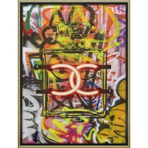 インテリアパネル ブランド キャンバスアート グラフィティ パフューム1(Lサイズ) アマンダ グリーンウッド ユーパワー 63.5x83.5cm 額付き ポスター|velkommen