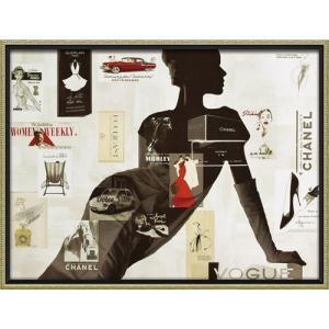 インテリアパネル ブランド キャンバスアート アマンダ グリーンウッド ハイファッション1(Lサイズ) ユーパワー 83.5x63.5cm 額付き ポスター|velkommen