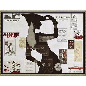 インテリアパネル ブランド キャンバスアート アマンダ グリーンウッド ハイファッション2(Lサイズ) ユーパワー 83.5x63.5cm 額付き ポスター インテリア|velkommen