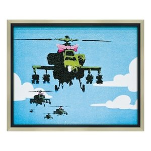 アートフレーム Banksy ヘリコプター バンクシー ユーパワー BK-10003 ギフト|velkommen