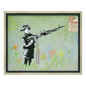 アートフレーム Banksy バンクシー クレヨン シューター ユーパワー BK-10004|velkommen