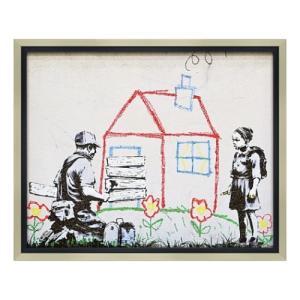 アートフレーム Banksy バンクシー プレイハウス ユーパワー BK-10005 ギフト|velkommen