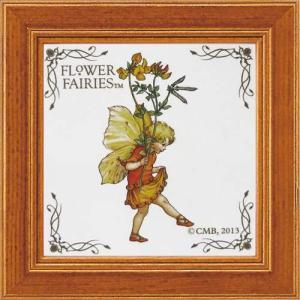 額付きポスター ミニアートフレーム フラワーフェアリーズ パーズフットトレフォイル ユーパワー 12×12cm インテリア 絵本キャラクター velkommen