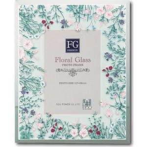 結婚祝い フォトフレーム 写真立て FGデザイン ワイルドフラワーピンク ユーパワー 16×20cm|velkommen