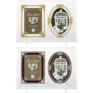 2ウィンドウ グラス アンティーク フォトフレーム 北欧インテリア ブライダルギフト 結婚祝い 写真立て 取寄品 結婚祝い プレゼント t-xg|velkommen