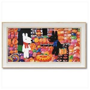 アート フレーム S ワイド フレンチ アート 額付ポスター リサとガスパール キャンディーハウス ユーパワー 34×18.5cm 可愛い ギフト velkommen