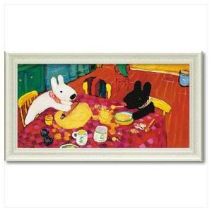 アート フレーム L ワイド フレンチ アート 額付ポスター リサとガスパール おかしづくり ユーパワー 67.5×37.5cm 可愛い ギフト velkommen