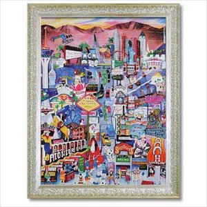 Art Frames ポップアート リネア・パーゴラ ラスベガス ユーパワー 71.5×91.5cm 額付きポスター|velkommen