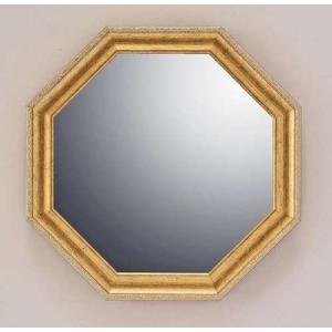 ヴィンテージ八角ミラー Mサイズ ゴールド 風水開運鏡 取寄品 プレゼント バースデー 誕生日ギフト 引越し祝い 新築祝い 開業祝い|velkommen
