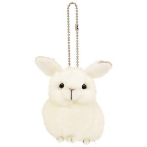 アニマル雑貨 ユキウサギ 雪兎 りくのどうぶつシリーズ ぬいぐるみキーチェーン|velkommen