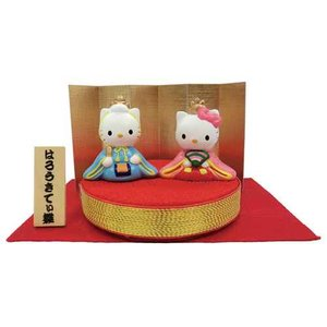 雛人形 ちりめん台ひな人形 ハローキティ 雑貨通販|velkommen