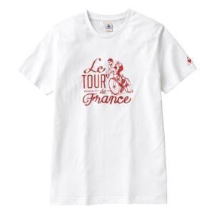 """le coq sportif(ルコック) Tシャツ Tour de Feance """"70s"""" ホワイト【自転車】 velove"""