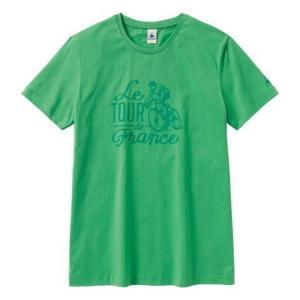 """le coq sportif(ルコック) Tシャツ Tour de Feance """"70s"""" グリーン【自転車】 velove"""