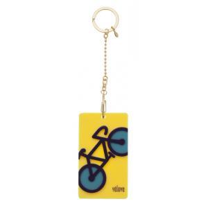velove 【自転車】 パスケース(イエロー)チェーン ※レターパック対象外|velove
