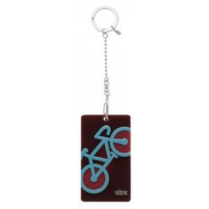 velove 【自転車】 パスケース(ブラウン)チェーン ※レターパック対象外|velove