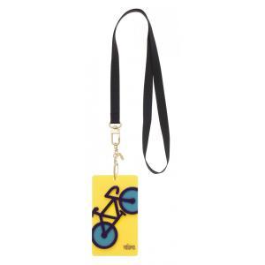 velove 【自転車】 パスケース(イエロー)ネックストラップ ※レターパック対象外|velove