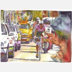小河原政男 アートフレーム「デニエル・キロメトル」【自転車】 ※レターパック対象外|velove