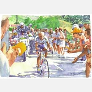 小河原政男 アートフレーム「ラルプ・デュエズ95」【自転車】 ※レターパック対象外|velove