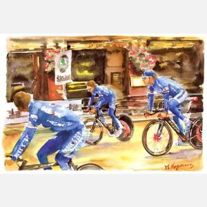 小河原政男 アートフレーム「ロンドン」【自転車】 ※レターパック対象外|velove