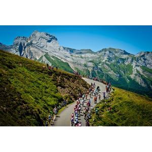 田中苑子 パネル「Col du Tourmalet」 297x420mm【自転車】 ※レターパック対象外|velove