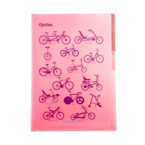 visual aid(ビジュアルエイド) 3ポケットクリアファイル【自転車】 velove