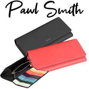 ポールスミス 財布 レディース かぶせ長財布...