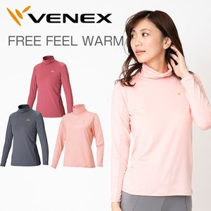 VENEX レディース フリーフィールウォーム ロングスリーブ タートルネック 休息専用 疲労回復 吸湿発熱|venex