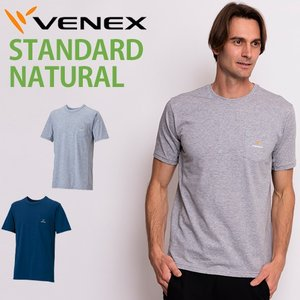 VENEX メンズ スタンダードナチュラル ショートスリーブ  ベネクス リカバリーウェア 天然素材 コットン 綿 休息専用 疲労回復|venex