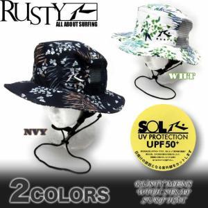メンズ サーフハット 帽子 RUSTY ラスティー ビーチハット サーフブランド UPF50+ 918903|venice