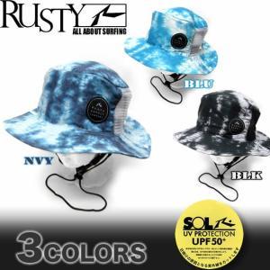 メンズ サーフハット 帽子 RUSTY ラスティー ビーチハット サーフブランド UPF50+ 918904|venice