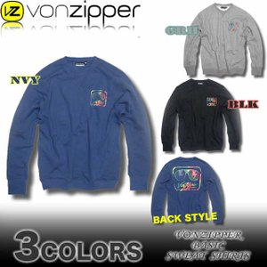 VON ZIPPERボンジッパー/AF212-001/裏起毛ベーシックスウェットシャツ/トレーナー|venice