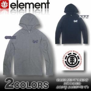ELEMENT エレメント メンズ ロンTパーカー 長袖Tシャツ AF022-053|venice