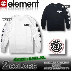 ELEMENT エレメント メンズ ロンT 長袖Tシャツ スケボーブランド ロングスリーブ AG022-053|venice