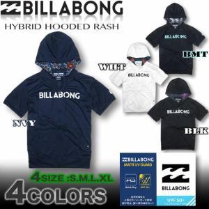 BILLABONG ビラボン メンズ パーカー ラッシュガード 半袖 ジップアップ AH011-857 ラッシュパーカー|venice