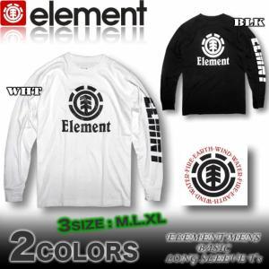 ELEMENT エレメント メンズ ロンT 長袖Tシャツ スケボーブランド ロングスリーブ AH021-051|venice