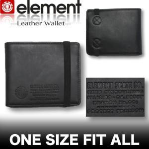 ELEMENT エレメント メンズ PUレザー 二つ折り財布 スケボー スケートボードブランド AH022-997|venice