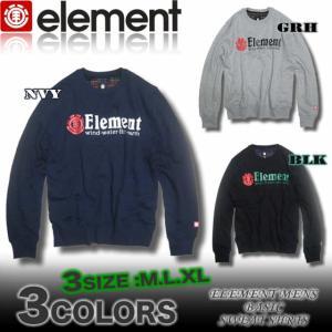 【SALE】ELEMENTエレメントメンズ/AE022-001/衿裏ネルチェック/ベーシックトレーナー/スウェットシャツ スケボー|venice