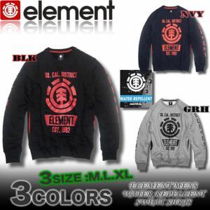 ELEMENTエレメントメンズ/AE022-004/撥水加工トレーナー/スケボー|venice