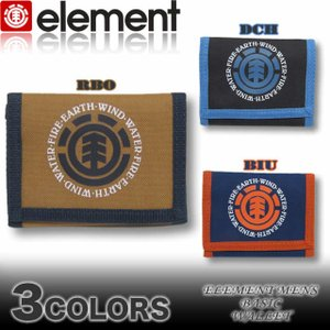 ELEMENT エレメント メンズ 三つ折り ベルクロ 財布 ウォレット AH022-995|venice