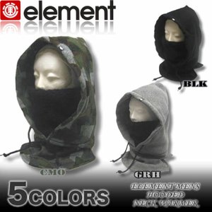 ELEMENT/エレメントメンズ/AF022-991/フード付きネックウォーマー/マフラー/パーカー|venice